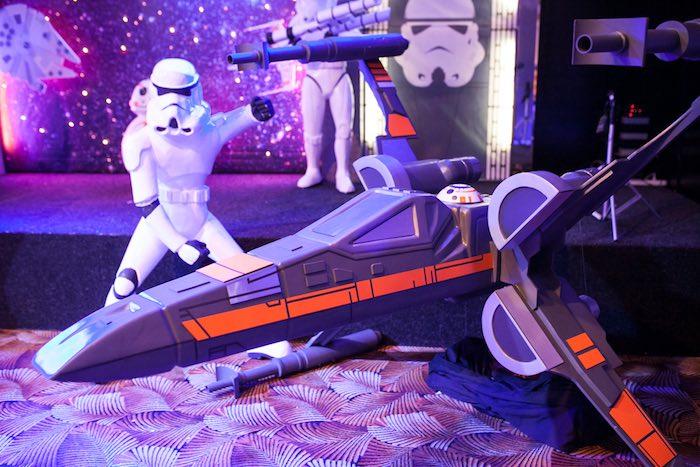 Spaceship prop from a Star Wars Birthday Party via Kara's Party Ideas | KarasPartyIdeas.com (9)
