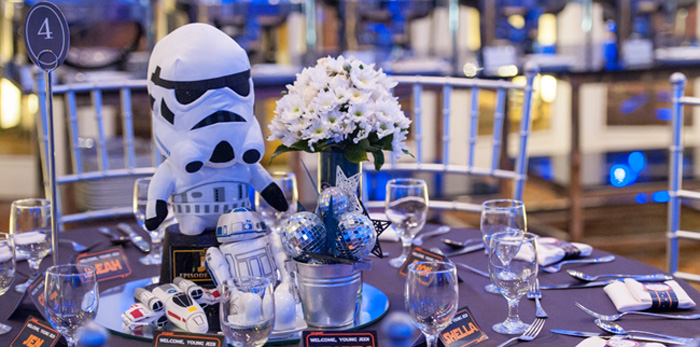 Kara S Party Ideas Blue And Silver Star Wars Birthday