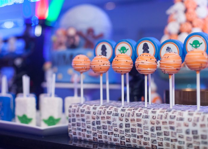 Cake pops & chocolate covered Oreos from a Star Wars Birthday Party via Kara's Party Ideas | KarasPartyIdeas.com (43)