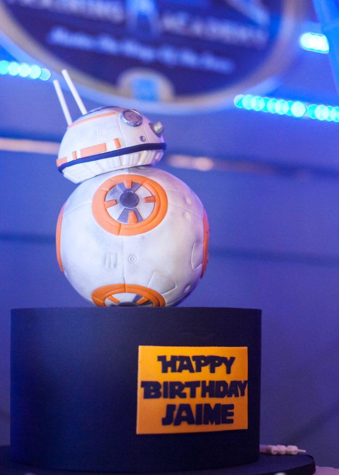 Drone cake from a Star Wars Birthday Party via Kara's Party Ideas | KarasPartyIdeas.com (39)