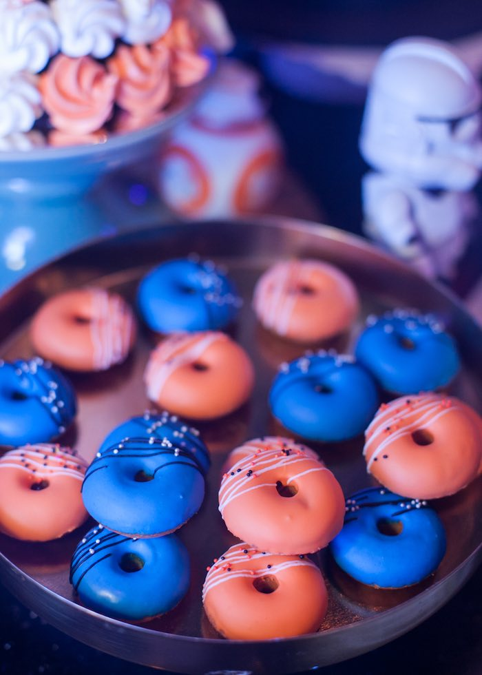 Mini doughnuts from a Star Wars Birthday Party via Kara's Party Ideas | KarasPartyIdeas.com (38)