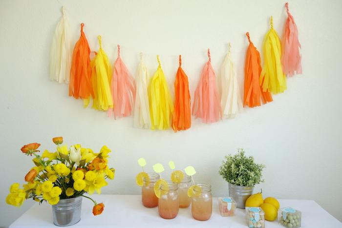 Tablescape from a Summer Lemonade Party via Kara's Party Ideas | KarasPartyIdeas.com (5)