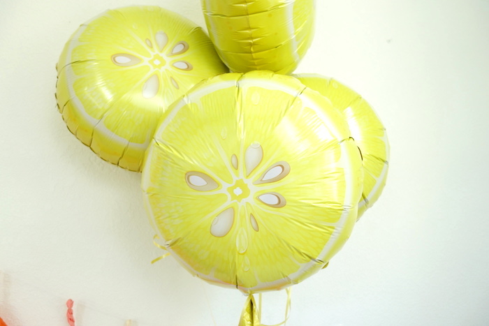 Lemon balloons from a Summer Lemonade Party via Kara's Party Ideas | KarasPartyIdeas.com (2)