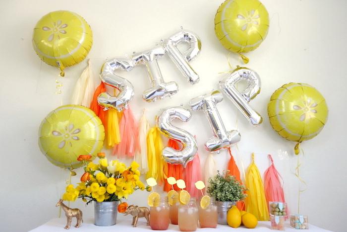 Head table from a Summer Lemonade Party via Kara's Party Ideas | KarasPartyIdeas.com (19)
