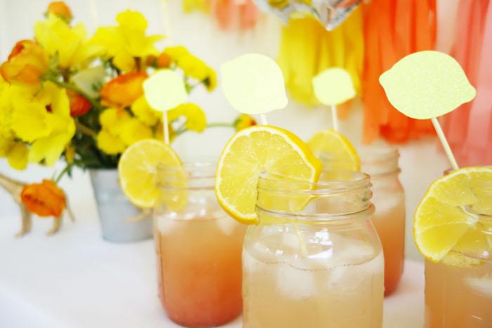Drinks from a Summer Lemonade Party via Kara's Party Ideas | KarasPartyIdeas.com (18)
