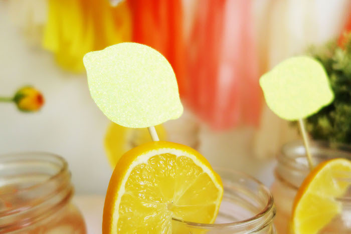 Lemon drink garnishes + stirrers from a Summer Lemonade Party via Kara's Party Ideas | KarasPartyIdeas.com (16)