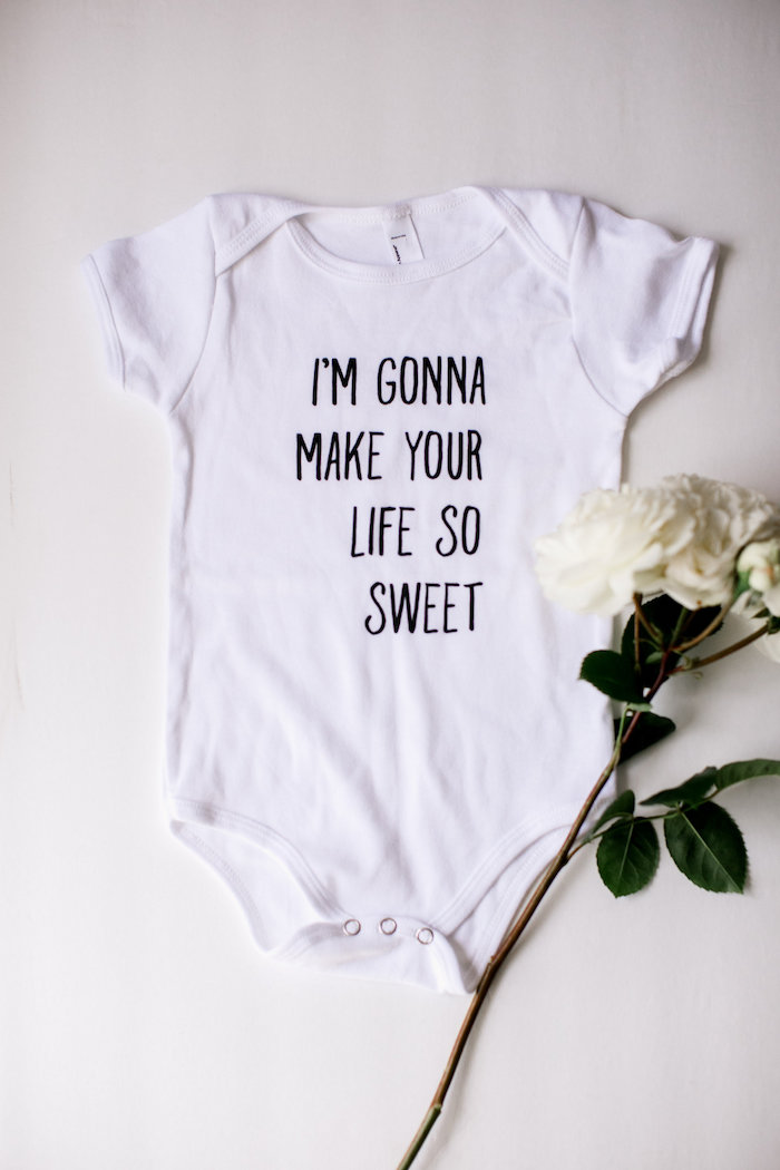 Onesie from a Sweet Baby Ice Cream Baby Shower via Kara's Party Ideas KarasPartyIdeas.com (32)