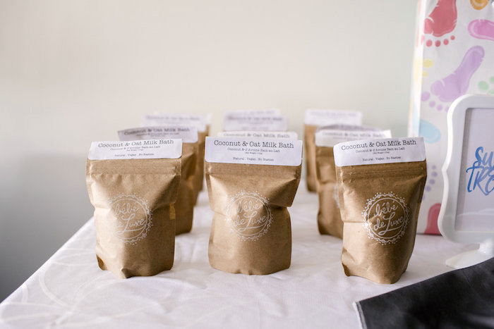 Coconut & Oat Milk Bath favors from a Sweet Baby Ice Cream Baby Shower via Kara's Party Ideas KarasPartyIdeas.com (10)