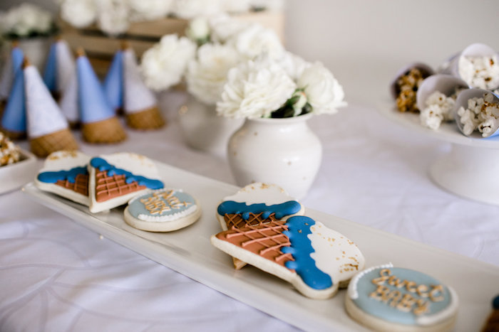 Sweet tablescape from a Sweet Baby Ice Cream Baby Shower via Kara's Party Ideas KarasPartyIdeas.com (25)