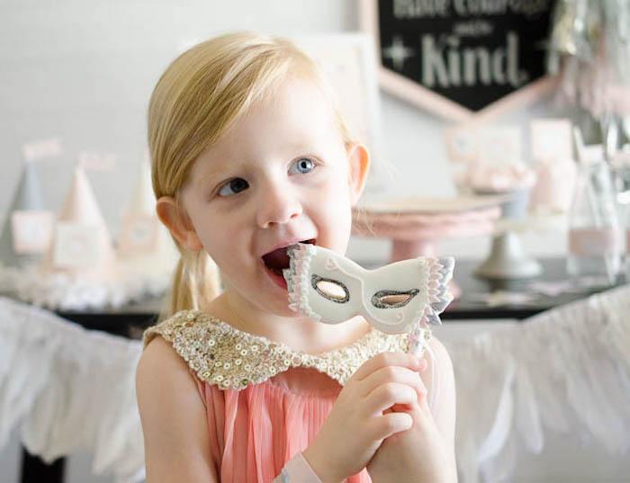 Little girl from a Sweet Swan Themed Birthday Party via Kara's Party Ideas | KarasPartyIdeas.com (12)