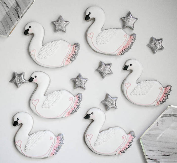 Cookies from a Sweet Swan Themed Birthday Party via Kara's Party Ideas | KarasPartyIdeas.com (21)