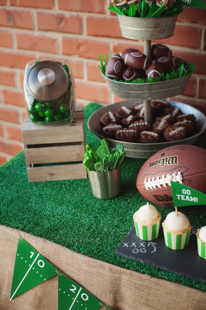 Game time table details from a Tailgate Football Birthday Party via Kara's Party Ideas | KarasPartyIdeas.com | The place for all things Party! (37)