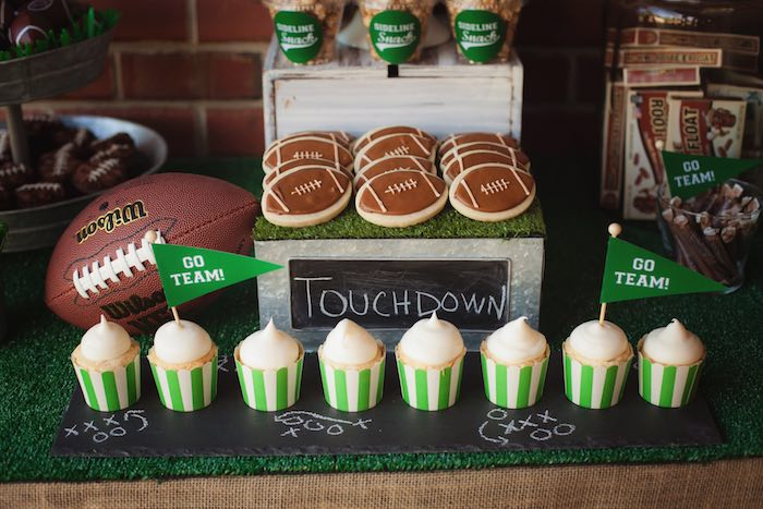 Sweet display from a Tailgate Football Birthday Party via Kara's Party Ideas | KarasPartyIdeas.com | The place for all things Party! (33)