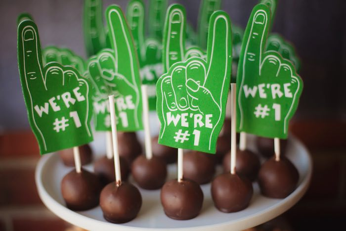 Cake pops from a Tailgate Football Birthday Party via Kara's Party Ideas | KarasPartyIdeas.com | The place for all things Party! (32)