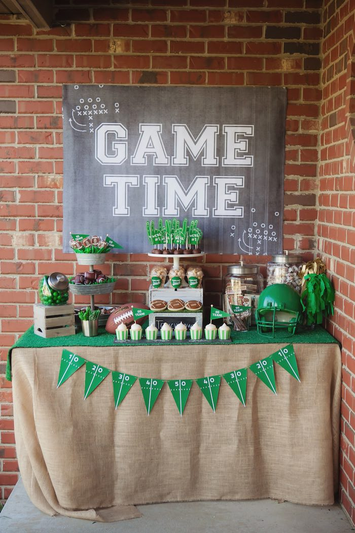 Kara 39 S Party Ideas Tailgate Football Birthday Party Kara 39 S Party Ideas