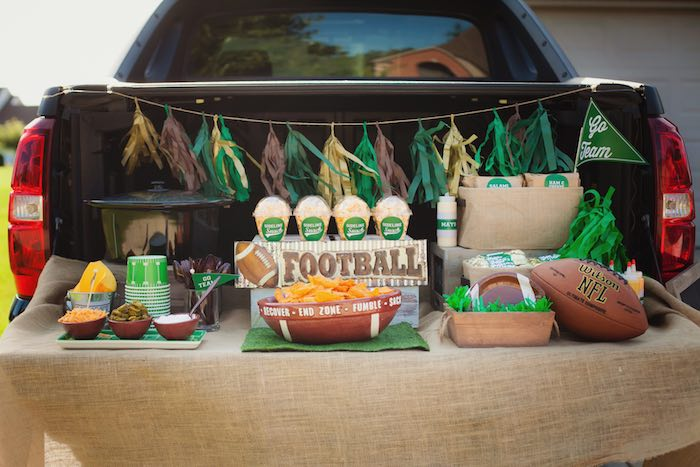 Tailgate Football Birthday Party via Kara's Party Ideas | KarasPartyIdeas.com | The place for all things Party! (18)