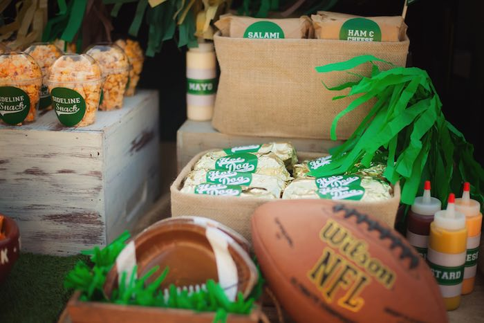 Food + snacks from a Tailgate Football Birthday Party via Kara's Party Ideas | KarasPartyIdeas.com | The place for all things Party! (14)