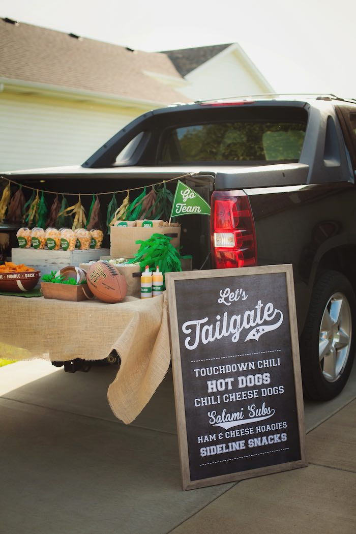 Tailgate Football Birthday Party via Kara's Party Ideas | KarasPartyIdeas.com | The place for all things Party! (11)