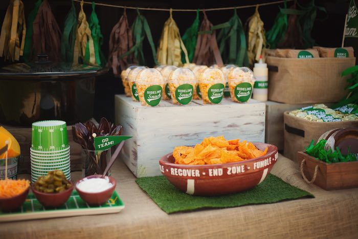 Snacks from a Tailgate Football Birthday Party via Kara's Party Ideas | KarasPartyIdeas.com | The place for all things Party! (9)