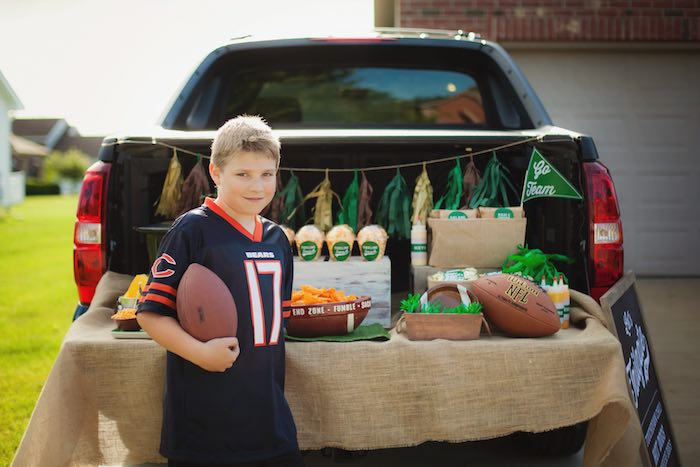 Birthday boy from a Tailgate Football Birthday Party via Kara's Party Ideas | KarasPartyIdeas.com | The place for all things Party! (7)