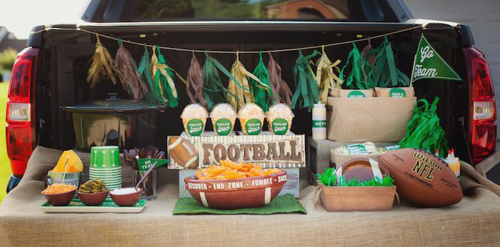 Tailgate Football Birthday Party via Kara's Party Ideas | KarasPartyIdeas.com | The place for all things Party! (3)