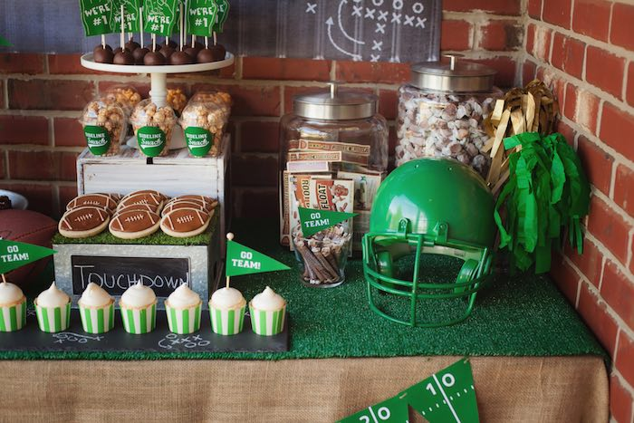 Party tablescape from a Tailgate Football Birthday Party via Kara's Party Ideas | KarasPartyIdeas.com | The place for all things Party! (38)