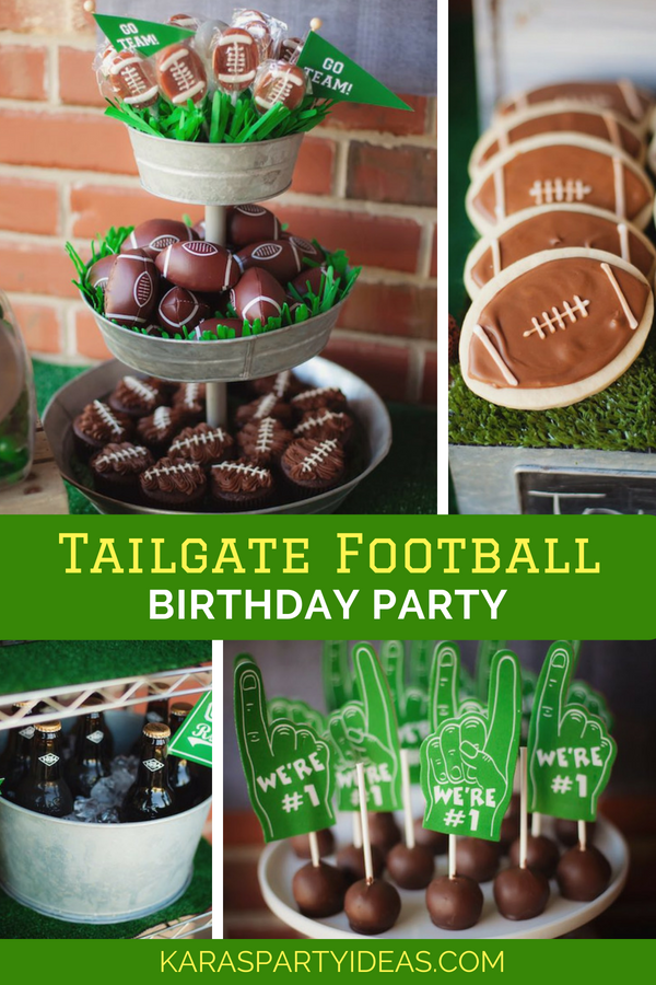 Tailgate Football Birthday Party via Kara's Party Ideas - KarasPartyIdeas.com