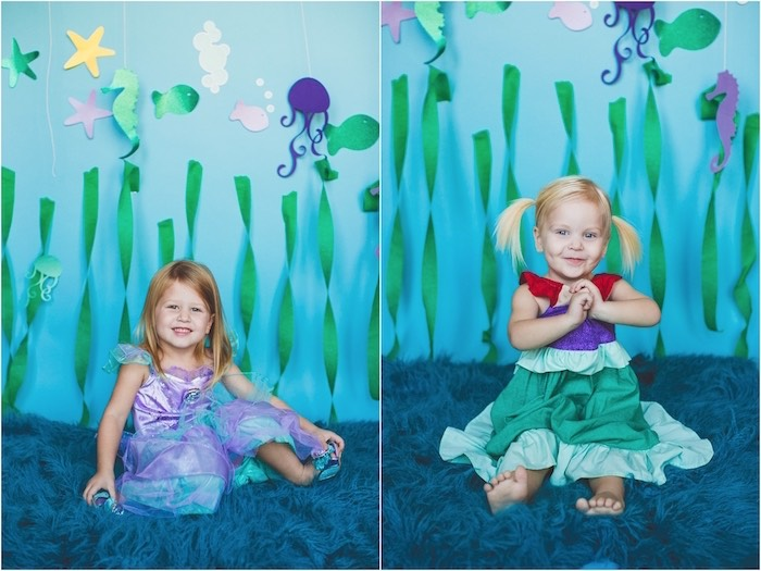 Photo backdrop from an Under the Sea Birthday + Mermaid Party via Kara's Party Ideas | Full of fabulous party ideas, supplies, printables and more! KarasPartyIdeas.com (15)