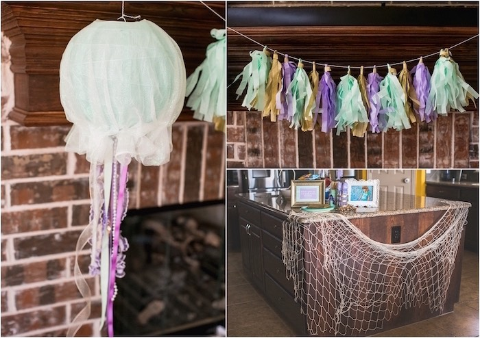 Party detail + decorations from an Under the Sea Birthday + Mermaid Party via Kara's Party Ideas | Full of fabulous party ideas, supplies, printables and more! KarasPartyIdeas.com (14)