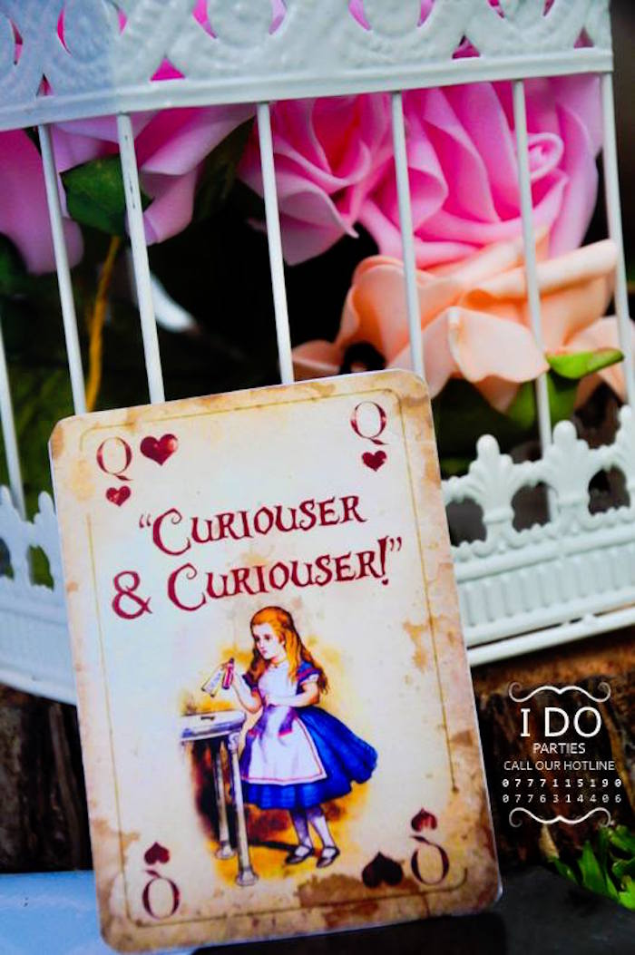 Vintage Alice in Wonderland playing card from a Vintage Alice in Wonderland Birthday Tea Party on Kara's Party Ideas KarasPartyIdeas.com (30)