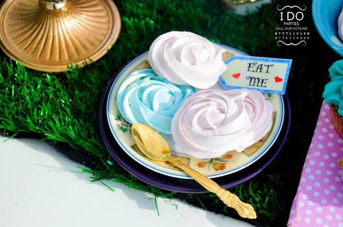 Meringue cookies from a Vintage Alice in Wonderland Birthday Tea Party on Kara's Party Ideas KarasPartyIdeas.com (24)