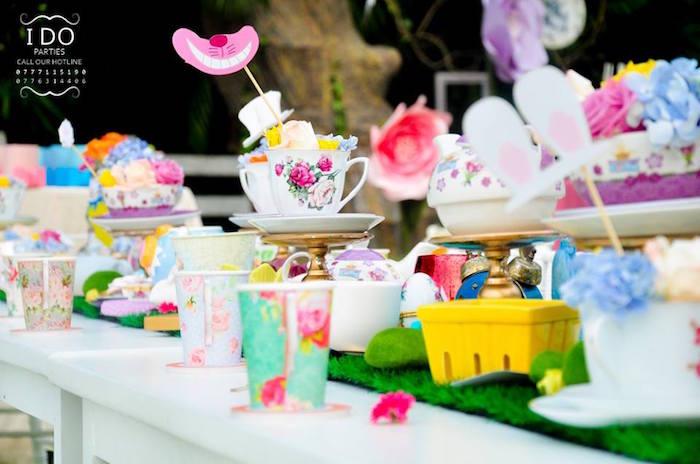 Tablescape from a Vintage Alice in Wonderland Birthday Tea Party on Kara's Party Ideas KarasPartyIdeas.com (20)