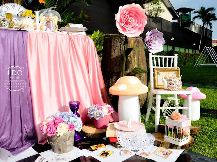 Decorations from a Vintage Alice in Wonderland Birthday Tea Party on Kara's Party Ideas KarasPartyIdeas.com (18)