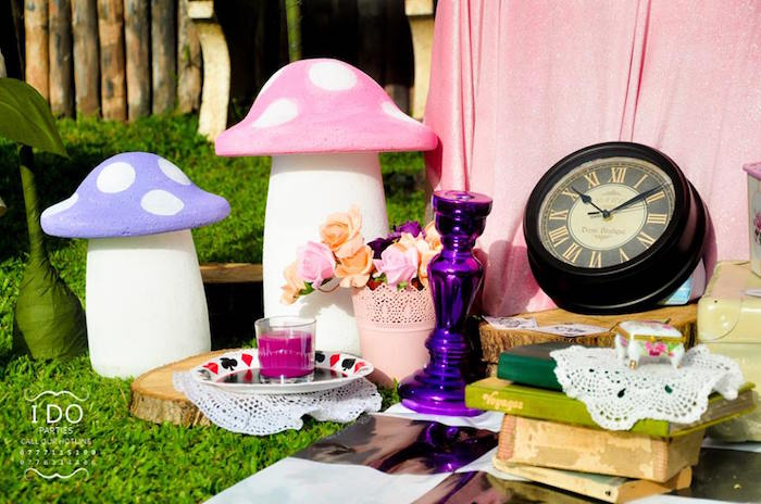 Party decor from a Vintage Alice in Wonderland Birthday Tea Party on Kara's Party Ideas KarasPartyIdeas.com (12)