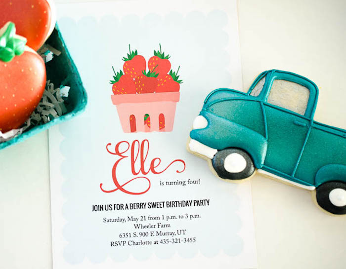 Party Signage From A Vintage Farmers Market Birthday Via Karas Ideas