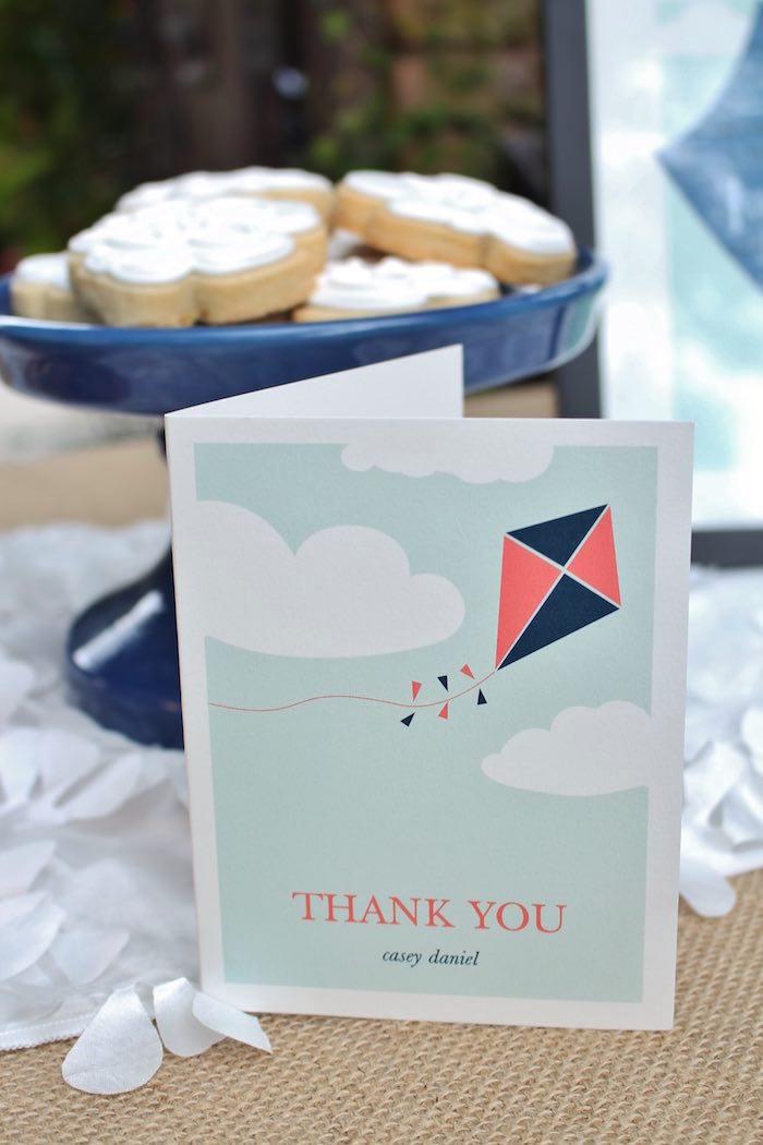 Thank you card from a Vintage Kite Themed Birthday Party via Kara's Party Ideas KarasPartyIdeas.com (3)