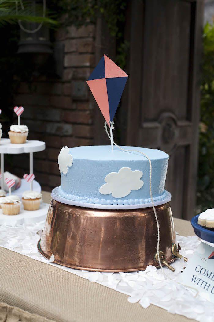 Kara S Party Ideas Vintage Kite Themed Birthday Party
