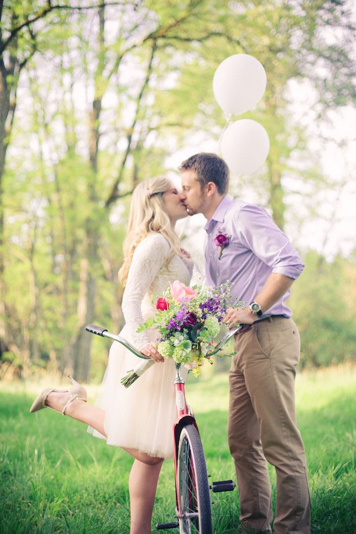 Whimsical kisses from a Whimsical Rustic Floral Wedding via Kara's Party Ideas KarasPartyIdeas.com (19)