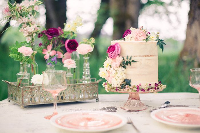 Stunning tablescape from a Whimsical Rustic Floral Wedding via Kara's Party Ideas KarasPartyIdeas.com (13)