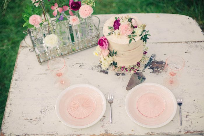 Exquisite tabletop from a Whimsical Rustic Floral Wedding via Kara's Party Ideas KarasPartyIdeas.com (11)
