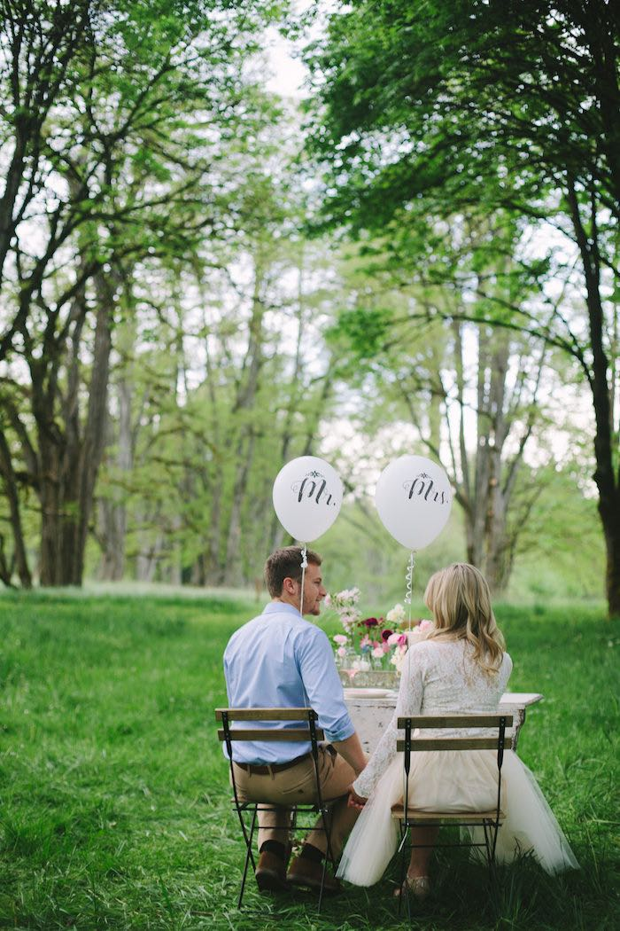 Bride + Groom from a Whimsical Rustic Floral Wedding via Kara's Party Ideas KarasPartyIdeas.com (10)