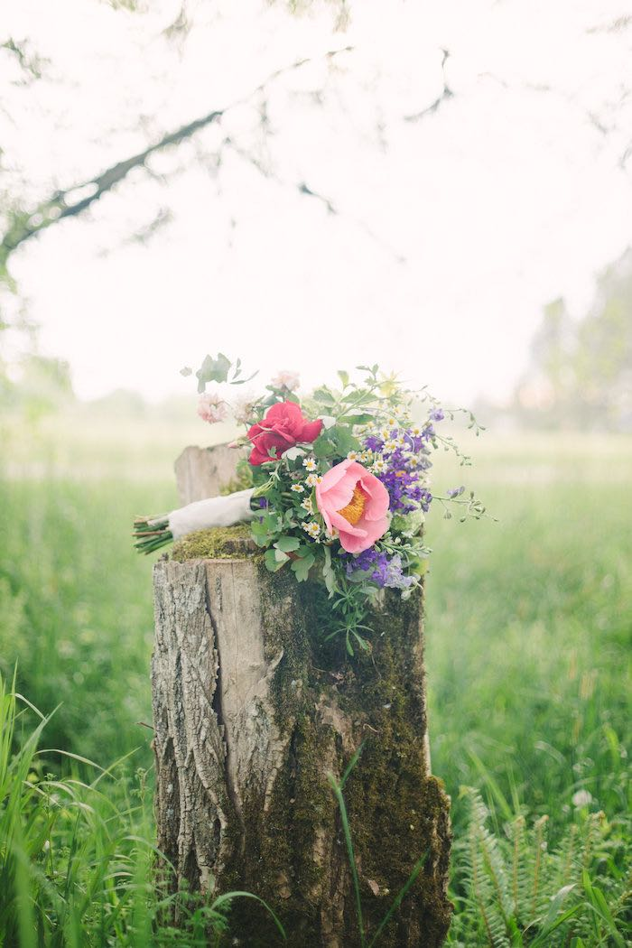 Wildflower bouquet from a Whimsical Rustic Floral Wedding via Kara's Party Ideas KarasPartyIdeas.com (7)
