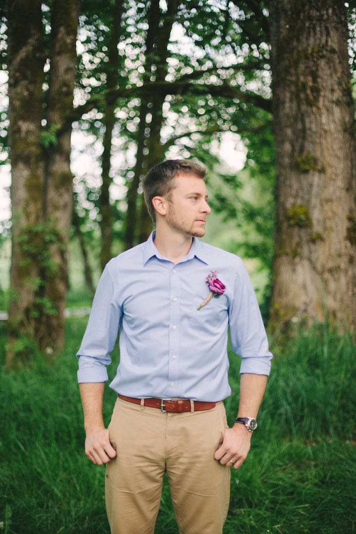 Groom from a Whimsical Rustic Floral Wedding via Kara's Party Ideas KarasPartyIdeas.com (5)