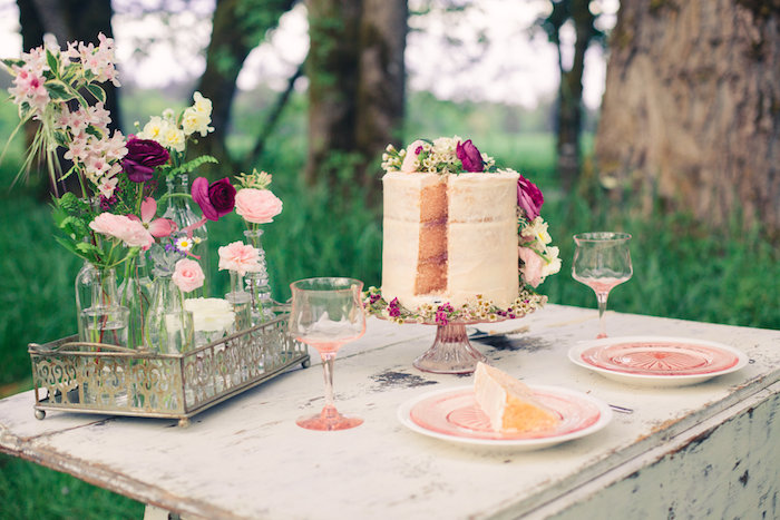 Gorgeous tablescape from a Whimsical Rustic Floral Wedding via Kara's Party Ideas KarasPartyIdeas.com (2)