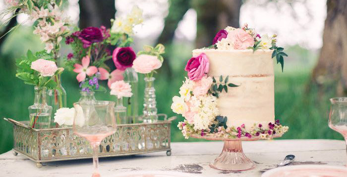 Whimsical Rustic Floral Wedding via Kara's Party Ideas KarasPartyIdeas.com (1)