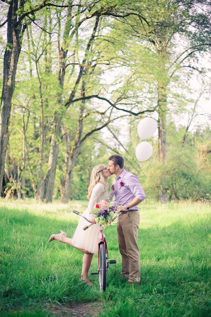 Whimsical kisses from a Whimsical Rustic Floral Wedding via Kara's Party Ideas KarasPartyIdeas.com (20)