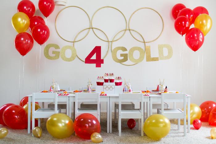 """Go 4 Gold"" Olympics Party on Kara's Party Ideas | KarasPartyIdeas.com (14)"