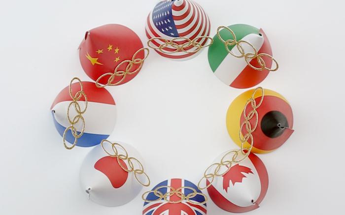 "Party Hats from a ""Go 4 Gold"" Olympics Party on Kara's Party Ideas | KarasPartyIdeas.com (13)"