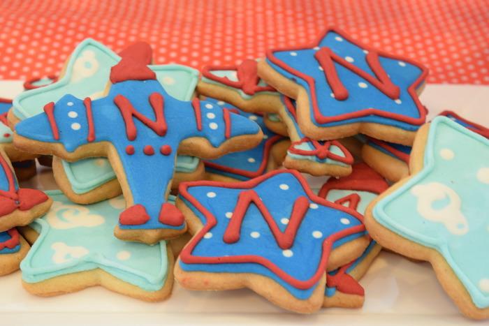 Cookies from a Airplane Birthday Party via Kara's Party Ideas KarasPartyIdeas.com (29)