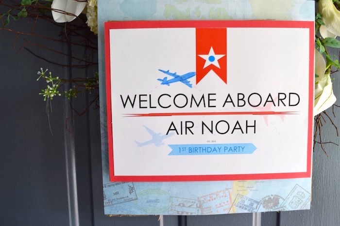 Welcome sign from a Airplane Birthday Party via Kara's Party Ideas KarasPartyIdeas.com (22)